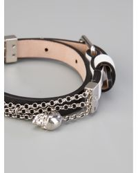 Alexander McQueen - Black Skull Charm Bracelet - Lyst