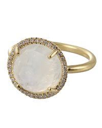 Irene Neuwirth | Metallic Moonstone Ring | Lyst