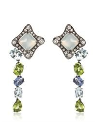 Antonini | Multicolor Moonstone Earrings with Sapphires | Lyst