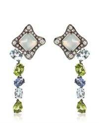 Antonini - Multicolor Moonstone Earrings with Sapphires - Lyst