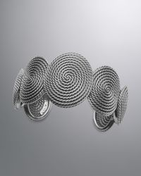 David Yurman | Metallic Cable Coil Cuff Bracelet | Lyst
