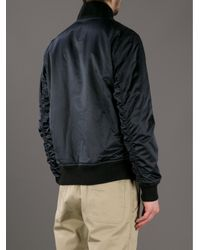 Lacoste L!ive - Black Bomber Jacket for Men - Lyst