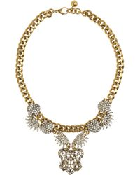 Lulu Frost - Metallic Sunburst Drape Swarovski Crystal Necklace - Lyst