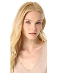Rebecca Minkoff | Metallic Hexagon Solitaire Necklace | Lyst