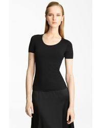 Armani | Black Short Sleeve Jersey Tee | Lyst
