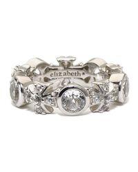 Elizabeth Showers - Metallic White Sapphire Maltese Ring for Men - Lyst
