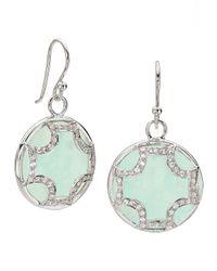 Elizabeth Showers | Blue Chalcedony Maltese Earrings | Lyst