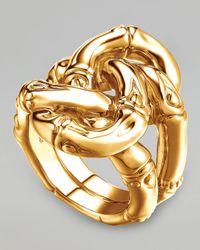 John Hardy | Metallic Bamboo 18k Gold Knot Ring | Lyst