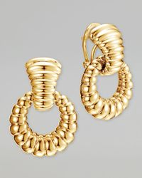 John Hardy | Metallic Bedeg 18k Gold Door-knocker Earrings | Lyst