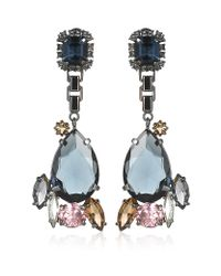 Mawi - Blue Teardrop Crystal Earrings - Lyst