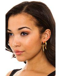 Noir Jewelry - Metallic The Gold Talon Earrings - Lyst
