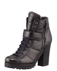 Prada | Ceup Ankleboot Black | Lyst