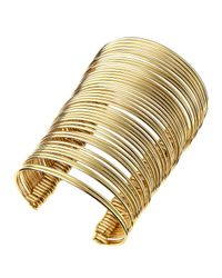 R.j. Graziano | Metallic Golden Connected Multi Bangle | Lyst