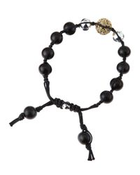 Tai - Mix Bead Drawstring Bracelet Black - Lyst