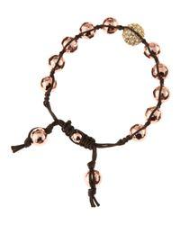 Tai | Metallic Rose Gold Bead Drawstring Bracelet | Lyst
