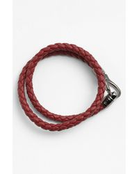 Tod's | Red Braided Leather Bracelet for Men | Lyst