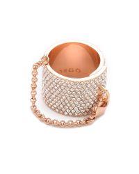 Eddie Borgo - Metallic Pave Safety Chain Ring - Lyst