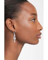 Nadri | Metallic Cubic Zirconia Chandelier Earrings (nordstrom Exclusive) | Lyst