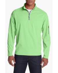 Peter Millar | Green Whistler Quarter Zip Pullover for Men | Lyst