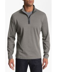 Robert Barakett   Gray Connor Half Zip Pullover for Men   Lyst