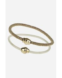 TOPSHOP | Metallic Magnetic Clasp Bracelets Set Of Two | Lyst