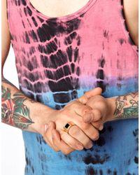 ASOS - Black Skool Ov Jenius By Lovebullets Onyx Stone Ring Exclusive To Asos - Lyst