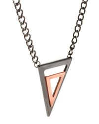 ASOS - Metallic Necklace with Geometric Triangles for Men - Lyst