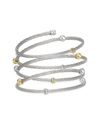 Charriol | Gray Nautical Cable Coil Station Bracelet | Lyst
