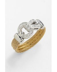 Charriol | Yellow Classique Diamond Knot Cable Ring | Lyst