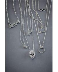 Dogeared | Metallic 'reminder - Free Bird' Feather Necklace | Lyst