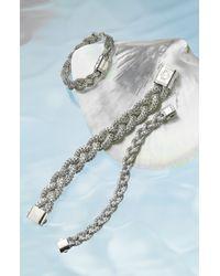 John Hardy   Metallic 'classic Chain' Small Braided Bracelet - Sterling Silver   Lyst