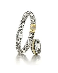 Lagos | Metallic Diamond & Caviar Station Bracelet | Lyst
