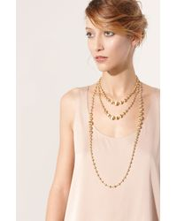 Marco Bicego | Metallic 'africa Gold' Graduated Long Strand Necklace | Lyst