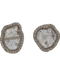 Monique Pean Atelier | Metallic Diamond Slice & Pave Diamond Small Stud E | Lyst