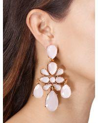 Oscar de la Renta - Metallic Resin Chandelier Earrings - Lyst