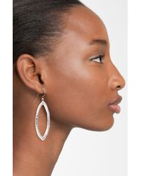 Simon Sebbag   Metallic Hammered Open Marquise Drop Earrings - Sterling Silver   Lyst
