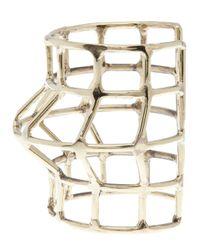 Anndra Neen - Metallic Cage Cuff - Lyst
