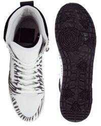ASOS   Black Sneakers with Zebra Print for Men   Lyst