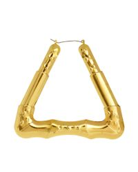 ASOS | Metallic Creole Triangle Hoops | Lyst