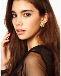 ASOS - Metallic Susan Caplan Exclusive For Vintage 80s Knot Stud Earrings - Lyst