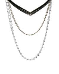 ASOS - Metallic Torque Chain Necklace - Lyst