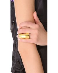 Eddie Borgo | Metallic Hinged Plate Ring - Gold | Lyst