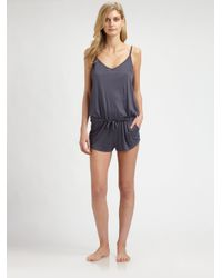 Hanro - Gray Polly Short Jumpsuit - Lyst