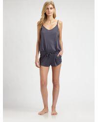 Hanro | Gray Polly Short Jumpsuit | Lyst