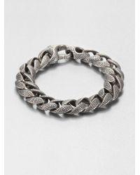Stephen Webster   Metallic Silver Rayskin Curb Link Bracelet   Lyst
