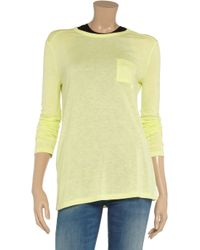 T By Alexander Wang | - Stretch-jersey Tank - Pastel Yellow | Lyst