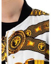Versus - White Chainprint Silk Bomber Jacket for Men - Lyst