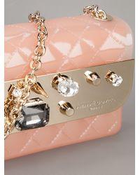 Hervê Guyel - Pink Stam Gem Embellished Clutch - Lyst