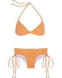 Shimmi - Orange Dylan Laceup Bikini - Lyst