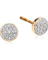 Astley Clarke | Metallic A Little Muse 14ct Gold Diamond Stud Earrings | Lyst